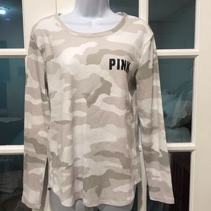 VS Pink Camo Thermal Long Sleeve Shirt